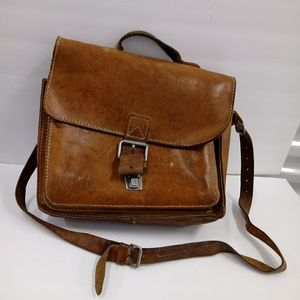 Original Ruitertassen Vintage Leather Satchel Bag